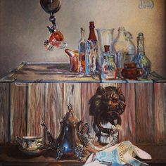 """I love surprises! So when a check came in the mail today for the sale of """"Raising a Glass"""" I did a happy dance! """"Knock Knock"""" sold in October at the show opening. #AlbuquerqueMuseum #sold #newMexico #DebraKeirce #miniaturesandmore"""