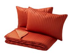 KARIT  Bedspread and 2 cushion covers, orange  Guestroom