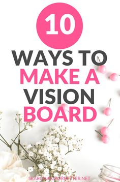 This is a great list of and on ways you can create a vision board for your There are so many examples to choose from! Find all the creative designs you need to create your perfect vision board to start working that law of attraction! How To Become, How To Get, How To Plan, Meditation, Goal Board, Creating A Vision Board, Setting Goals, Goal Settings, Positive Mindset