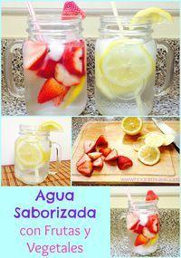 Hogar-Mujer: Agua saborizada con frutas y vegetales para desint...