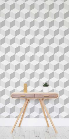 Looking for fun and new ways to add excitement back into your walls? This 3D cube wallpaper mural is stylish and ultramodern, it also has a playful edge. Optical trickery that makes it look like it's leaping off the walls!