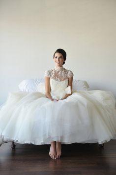 ballet inspired bridal look