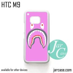 Pink Bape Shark Phone Case for HTC One M9 case and other HTC Devices
