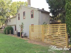 Simple Wooden Latticework Panel Fence