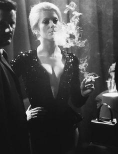 makes me want to smoke Catherine Deneuve, Women Smoking, Girl Smoking, Smoking Pics, Jane Fonda, Marie Christine Barrault, Christian Vadim, Beret Rouge, Black White