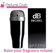 Gift yourself Decibel by Azzaro, the oriental spicy scent exclusive range for men launched in 2011. Loaded with the intensity of spices, the top notes are contributed by the refreshing and effervescent amalfi lemon, licorice and aldehydes. Size: 100ML. GET IT NOW  FROM PERFUMECRUSH.COM