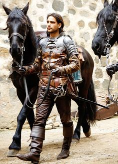 Luke Pasqualino in 'The Musketeers' (2014). x