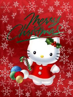 bd36e6328 Just something I threw together for Christmas. I hope you all have a  wonderful Holiday Sea. My Hello Kitty Christmas Card
