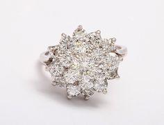 Snowflake Engagement Ring! So beautiful!