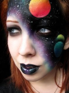 Space Face - galaxy makeup for Halloween