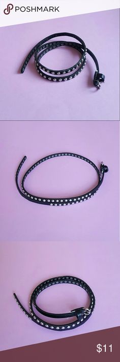 ASOS Thin Studded Faux Leather Belt No trades  Cross posted  Bundle to save!  In great condition! Only flaw is that the brand/size tag had been removed. It was thicker than the belt itself.  Size is med/lrg.  Measurements can be provided.   Please,  no swap requests   Tags: witchy goth Gothic punk rock alternative vegan leather ASOS Accessories Belts