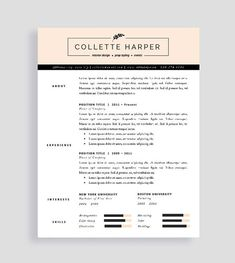 professional cv template and cover letter resume for word and pages two page resume