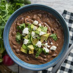 Healthy & Hearty Black Bean Soup by Tasty