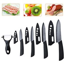 Black Zirconium dioxide antibacteria Knife set 5 PCs Kitchen Knife Accessories 3 4 5 6 Inch and FruitVegetable Peeler NEF15 -- To view further for this item, visit the image link. We are a participant in the Amazon Services LLC Associates Program, an affiliate advertising program designed to provide a means for us to earn fees by linking to Amazon.com and affiliated sites.