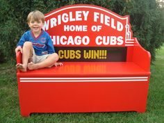 CHICAGO CUBS Wrigley Field Marquee toybox BENCH by pantsdownshirtscom on Etsy https://www.etsy.com/listing/114551753/chicago-cubs-wrigley-field-marquee