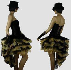 Designer Black Gold Burlesque Dress Up Costume by HarleyAvenueCom, Moulin Rouge Costumes, Dress Up Costumes, Costume Ideas, Burlesque Dress, Halloween Costumes, Halloween Ideas, Costume Makeup, Black Gold, Color Pop