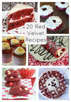 20 Red Velvet Recipes. -- anyone who needs to know -- red velvet is my FAVORITE