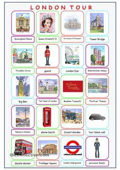 London Tour Picture Dictionary                                                                                                                                                                                 Mais