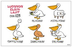 Eläinlajit 125 Learn Finnish, Finnish Language, Ancient Aliens, Finland, Vocabulary, Nerdy, Beautiful Pictures, Cartoon, Comics
