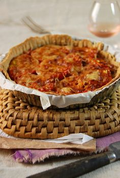 Tarte thon, tomate et moutarde - Tangerine Zest