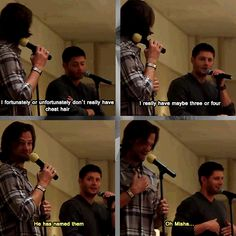 """I don't really have chest hair..."" - Jensen and Jared convention panel #ChiCon2012"