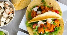 Haastamme sinut kokeilemaan kuukautta vegaanina! Taco Thursday, Vegetable Pizza, Vegetarian Recipes, Bbq, Tacos, Mexican, Ethnic Recipes, Food, Barbecue