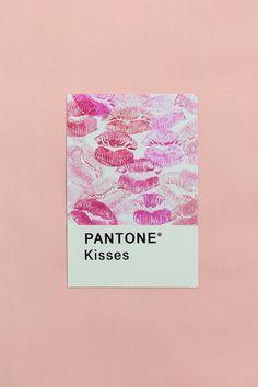 Pantone Kisses, Happy Valentines Day!