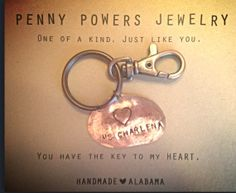 This key chain makes a great inexpensive Valentine's day gift for teachers!  ONLY $8!!!