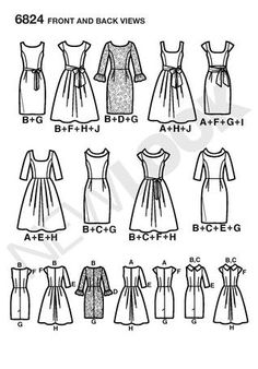 Want to make your own dress? Try Simplicity pattern #6824 from the New Look Collection.