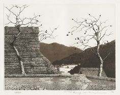 TANAKA Ryōhei(田中良平 Japanese, b.1933) Autumn    1982 etching and aquatint