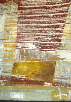 Brenda Holzke~painted paper collage, monoprint, acrylic, oil stick