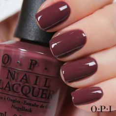 """""""OPI Scores A Goal!"""" with this new rich, creamy burgundy. #OPIBrazil 
