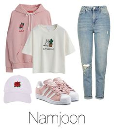 """Lazy day with Namjoon"" by infires-jhope on Polyvore featuring Topshop, Armitage Avenue and adidas Originals"