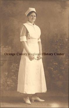 ca. 1910 photograph of Ernestine Cruz Hart in nurse uniform. (Orange County Regional History Center)