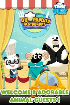 Dr. Panda's Restaurant - Cooking Game For Kids ($1.99) Kids will be introduced to cooking. Dr. Panda has a recipe book which contains 10 different dishes and drinks. Among many others, it includes pizza, apple pie, corn soup, Chinese wok and fruit milkshakes. Kids will complete varied activities such as slicing, frying, toasting, mixing & baking. Besides preparing & serving food, they will also feed the animals, decorate the dining rooms, clean the tables, & recycle garbage.