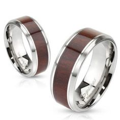 One Stainless Steel Wood Print Inlay Beveled Edge Band Ring - Wood Rings - Ideas of Wood Rings - 0 The post One Stainless Steel Wood Print Inlay Beveled Edge Band Ring appeared first on Awesome Jewelry. Piercing Plug, Faux Piercing, Bridal Bands, Wedding Bands, Wedding Engagement, Wedding Couples, Wedding Ring, Mens Band Rings, Rings For Men
