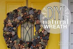 DIY Natural Fall Wreath | Beautiful Matters
