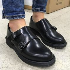 The Pandora shoe, shared by c_nancy_. Dr. Martens, Walk In My Shoes, Me Too Shoes, Shoes Sandals, Dress Shoes, Shoe Boots, Double Monk Strap Shoes, Desert Boots, Comfy Shoes