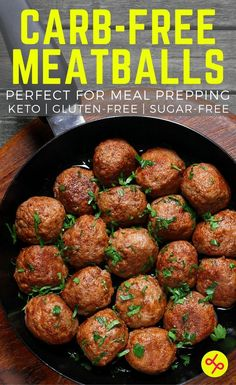 Simple, Carb-Free Beef Meatballs - Perfect for Meal Prepping! No fillers! | #CarbFree #LowCarb #CleanEating #MealPrep #Keto