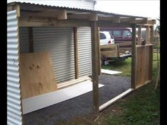 How to Add a Lean To Onto a Shed. When your shed or other storage building no longer provides enough room, you can add additional storage if you add a lean-to onto a shed. If the existing shed is structurally sound and has an exterior wall. Small Shed Plans, Lean To Shed Plans, Shed Building Plans, Diy Shed Plans, Shed Storage, Built In Storage, Diy Storage Building, Custom Sheds, Large Sheds