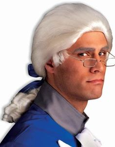 Historical Colonial White Wig $19.99