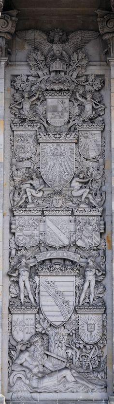 Berlin, Reichstag - Wappen der Länder des Kaiserreichs; Left Relief
