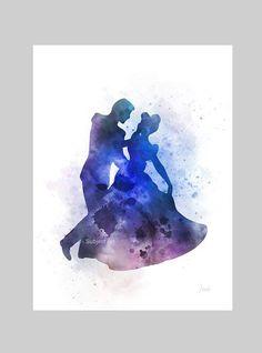 Cinderella Dancing with Prince Charming ART PRINT