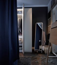 Clothes are much easier to find in the dark in this illuminated wardrobe. A…