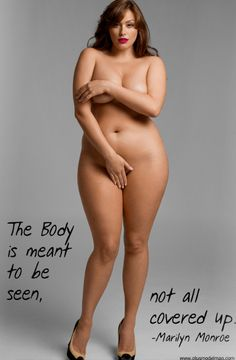 If I looked like this, I would also walk around naked...no love rolls..this woman is beautiful