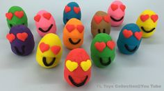 Fun Learning Colours with Play Doh Smiley Faces for Children by YL Toys ...
