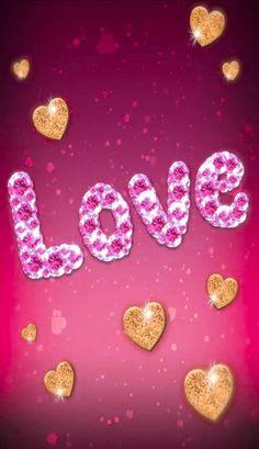 My True Love, My Love, Glitter Hearts, Peach, Candy, App, Iphone Wallpapers, Sweet, Board