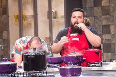 .: #BatalhadosCozinheiros: com clipe no nariz, duplas preparam sopa caseira sem sentir o cheiro e gosto do prato