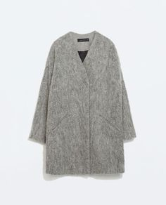 ZARA - WOMAN - STRUCTURED COLLARLESS COAT
