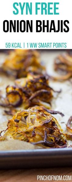 Syn Free Onion Bhajis | Pinch Of Nom Slimming World Recipes 59 kcal | Syn Free | 1 Weight Watchers Smart Points
